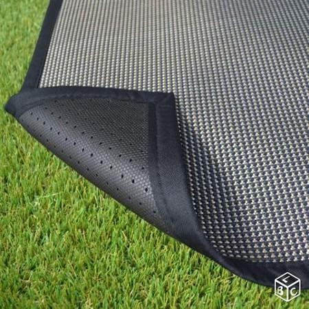 tapis ext rieur pvc tress noir bourges. Black Bedroom Furniture Sets. Home Design Ideas