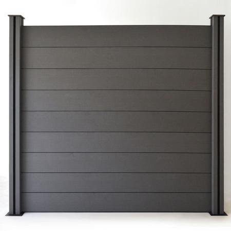panneau occultant brise vue en composite gris bourges. Black Bedroom Furniture Sets. Home Design Ideas