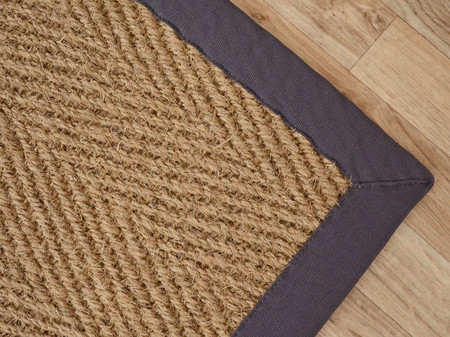 tapis coco paravan chevron ganse coton anthracite ref 118194 bourges. Black Bedroom Furniture Sets. Home Design Ideas