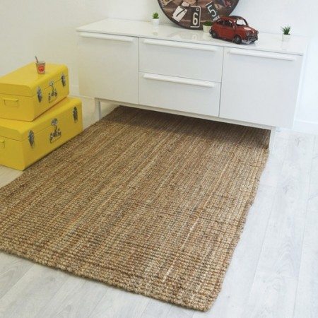 tapis naturel boh me 100 jute d co salon salle manger. Black Bedroom Furniture Sets. Home Design Ideas