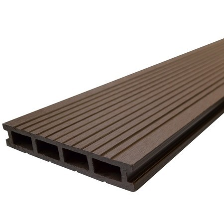 Lame en bois composite chocolat terrasse composite bourges - Lame composite clipsable ...