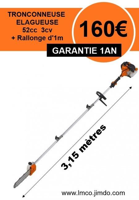 Elagueuse perche tronconneuse avec rallonge 1m ref 81189 - Boutique orange bourges ...