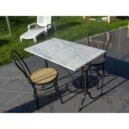 table bistrot en marbre bourges. Black Bedroom Furniture Sets. Home Design Ideas