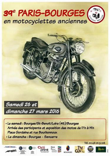 39ème Paris - Bourges en motocyclettes anciennes