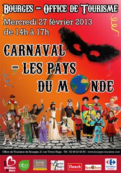 Animation carnaval de bourges autour des pays du monde infoptimum - Office de tourisme bourges ...