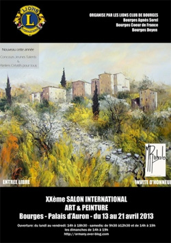 Exposition le 20 me salon international art peinture for Salon de bourges