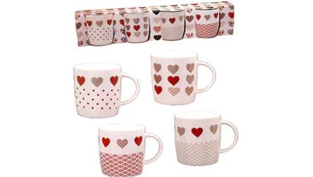 coffret 4 mugs nordik cœurs la maison de lilo vente priv 233 e bourges infoptimum