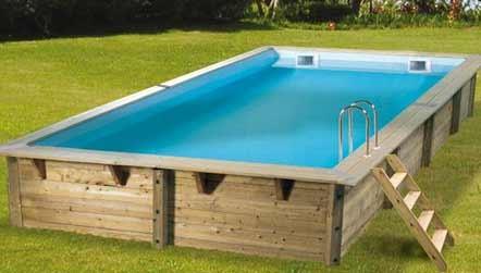 Piscine bois ubbink en kit 650x350x140 liner bleu for Liner piscine tarif