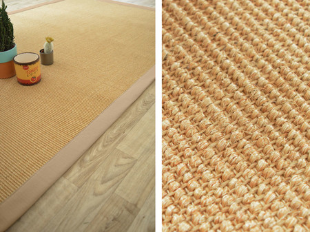 tapis sisal yucatan naturel ganse beige - Tapis Sisal