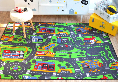 tapis circuit voiture ville 145x200 cm bourges. Black Bedroom Furniture Sets. Home Design Ideas