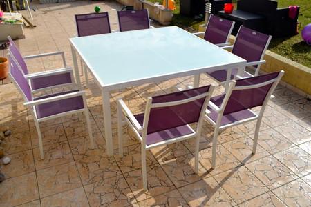 Salon de jardin Hespéride - Table carrée + 8 Fauteuils - ref ...