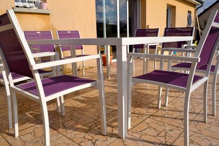 Salon de jardin Hespéride - Table carrée + 8 Fauteuils - Bourges