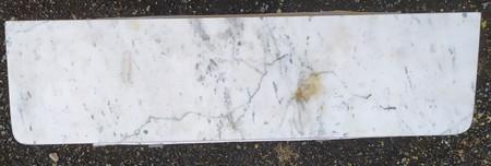 Tablette Radiateur En Marbre Blanc L 60 X P 16 Cm Ep 20