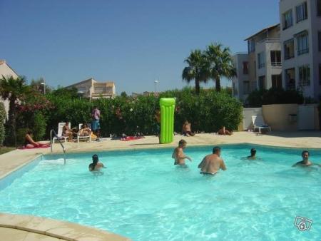 Loue t1 au cap d 39 agde avec piscine et parking ref 13449 for Piscine agde tarif