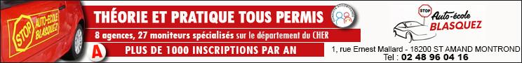Stop Auto Ecole Blasquez Bourges 2018