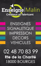 Enseigne Malin Bourges 2019