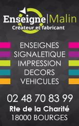 Enseigne Malin Bourges 2020