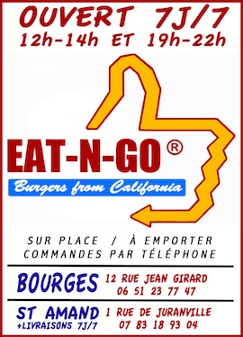 nouvelle carte 2016 chez eat n go burgers bourges et saint amand montrond 20 01 2016. Black Bedroom Furniture Sets. Home Design Ideas