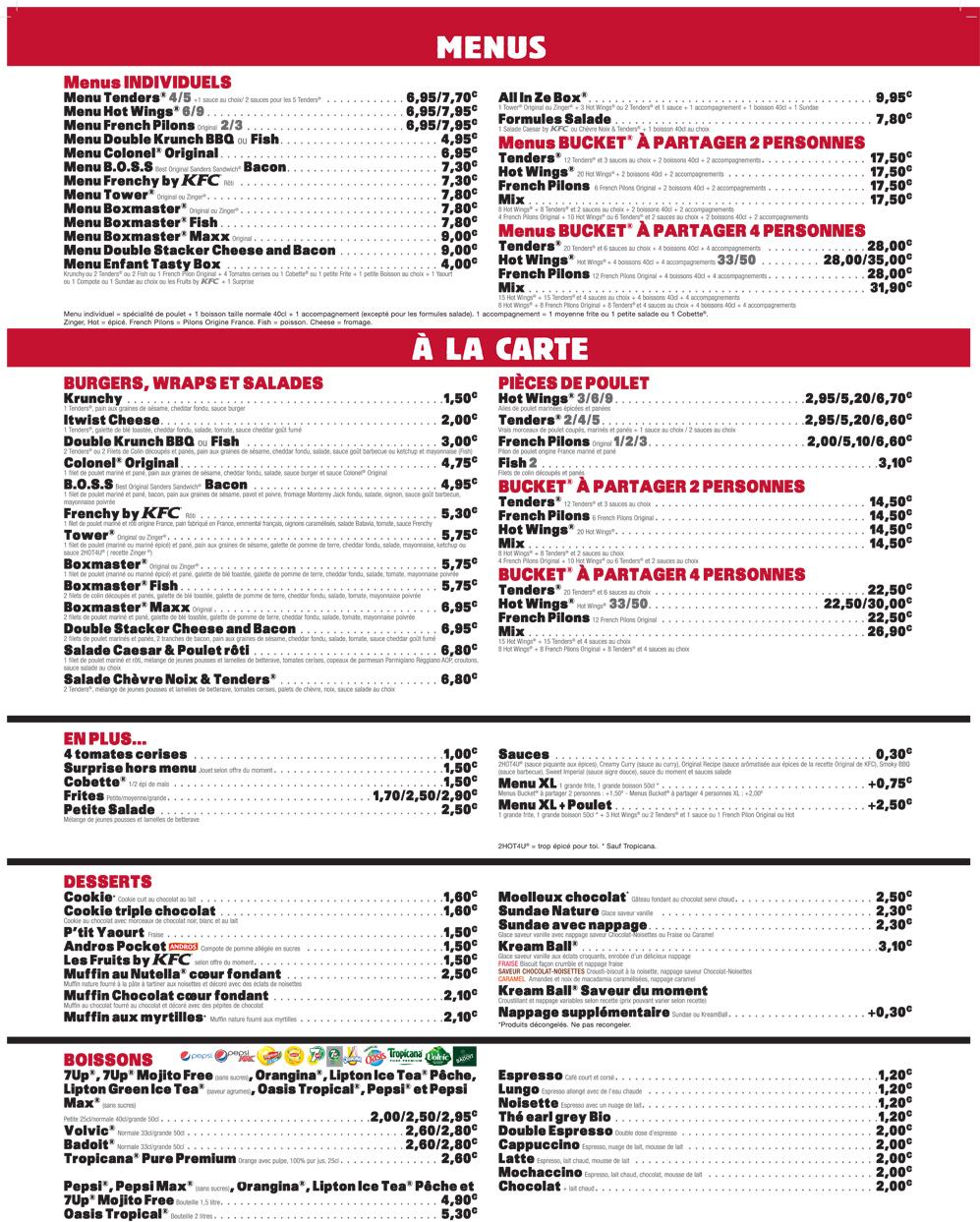Carte Kfc Prix 2019.Kfc Drive Restaurant Bourges