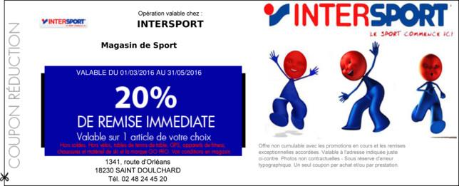 bon reduction intersport